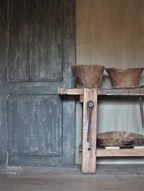 Oude deur - Annie Sloan Country Grey, Graphite en dark wax