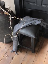 Krukje hout en stof!  - Annie Sloan Graphite, Clear en black wax