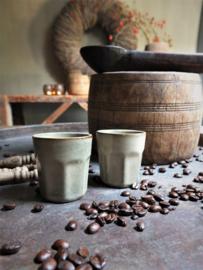 Stoere espressomokken mokjes 100ml Set van 2!