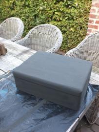 Blank houten kistje - Annie Sloan Graphite, Honfleur, Olive, Dark wax