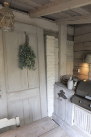 Oude grenen deur - kleur French Linen