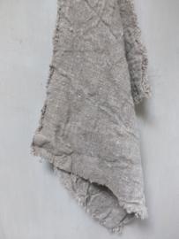 Shabby linnen doek 60x45cm gerafeld met zeiloog