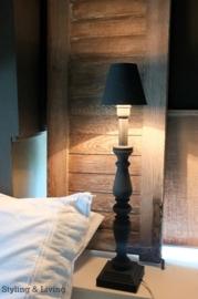 Lampenvoet en lampenkapje- kleur Graphite