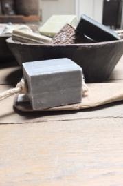 Hamman zeepblok koord heerlijke geur lichtgrijs 200gr