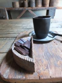 Oud houten bakje tempelbakje serveerbakje nr 1