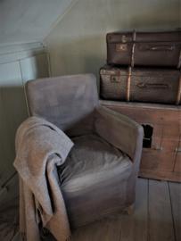 Stoffen hoes stoel - Annie Sloan Graphite en Honfleur