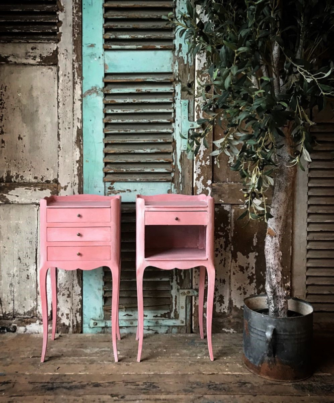 Annie Sloan mix Scandinavia Pink met Old White