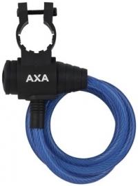 AXA Spiraalkabelslot Zipp blauw 120cm