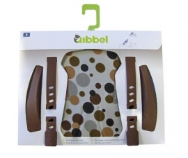 Qibbel Stylingset voorzitje dots brown