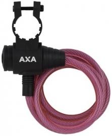 AXA Spiraalkabelslot Zipp roze 120cm