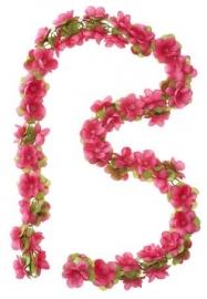 Bloemenslinger roze
