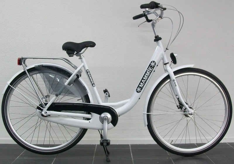 Moederfiets Mammie limited edition glans wit
