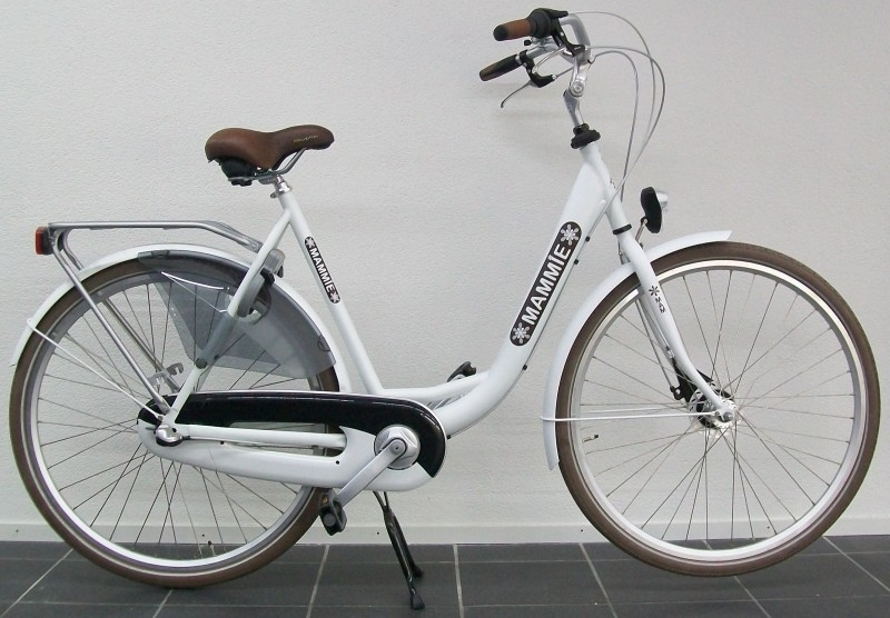 Moederfiets Mammie limited edition mat wit