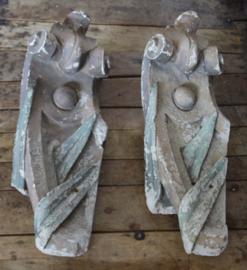 Oude ornamenten van gips