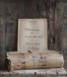 Oude Franse notariële akte