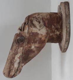 Antiek houten paardenhoofd