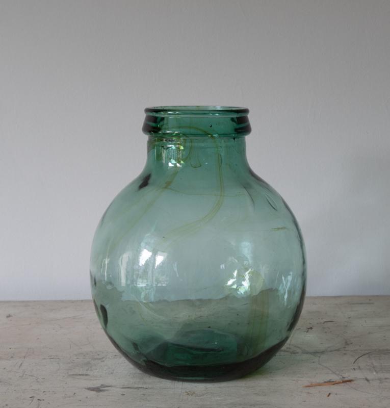 Groene fles /vaas
