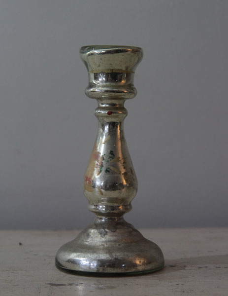 Oude zilverglas Kandelaar