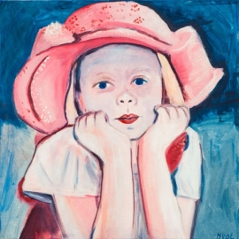 Meisje met roze hoed (HL-006)