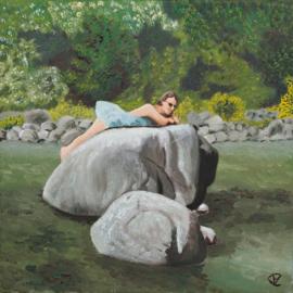 Vrouw op rots (FZ-002)