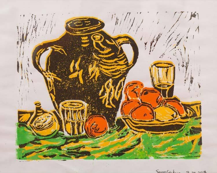 Pot en fruitschaal (SO-011)