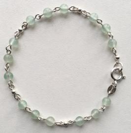 Aventurijn armband Romeinse stijl, Echt zilver, echte Aventurijn