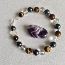 Chakra armband en Amethyst steen voor Monique