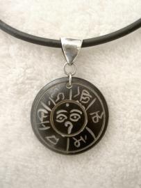 Chakra amulet, been  - Sterling zilveren oog