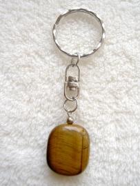 Tijgeroog sleutelhanger, echte (half)edelsteen