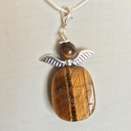 Engeltje `Geluk` Tijgeroog -Natuur- Echte edelsteen