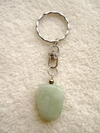 Jade sleutelhanger - echte edelsteen