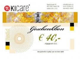 Geschenkbon € 40,-