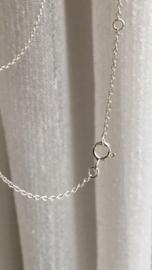 Zilveren ketting fijn 1,2mm dik, ankerschakel, 45, 50 of 54 cm lang