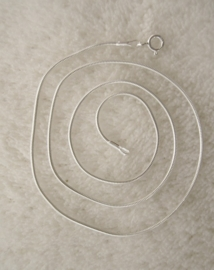 Ketting `snake` 45 cm - verzilverd