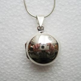 Locker, medaillon met diepte, sterling zilver
