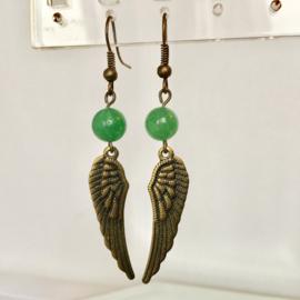 Oorbellen Engelenvleugels  Aventurijn - Echte edelsteen