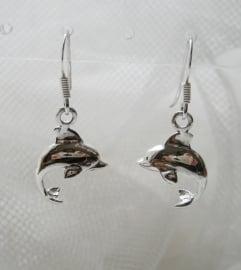 Ooorbellen `Dolfijntjes` 2,3cm - Sterling Zilver
