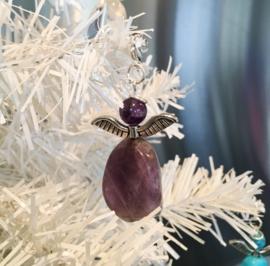 Engeltje `Geluk` Amethyst -Natuur- Echte edelsteen