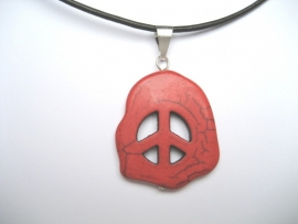 Peace, Vrede hanger, Howliet - Rood