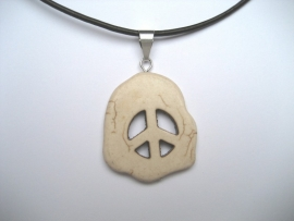 Peace, Vrede hanger, Howliet - Wit (natuur)
