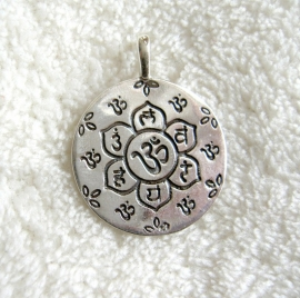 Chakra amulet, sterling zilver