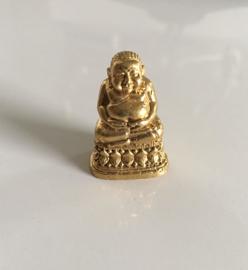 Reisboeddha, messing (goud) Chinees - 2,4 cm groot