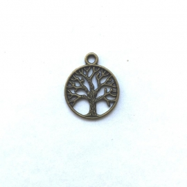 Bedel levensboom - kleur brons 2,5 cm
