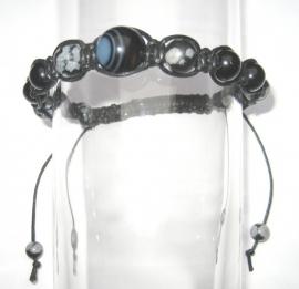 Shambhala armband Sneeuwvlok Obsidiaan/Onyx