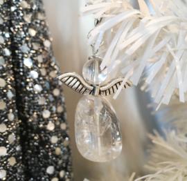 Engeltje `Geluk` Bergkristal -Natuur- Echte edelsteen