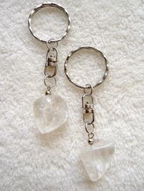 Bergkristal sleutelhanger - echte edelsteen