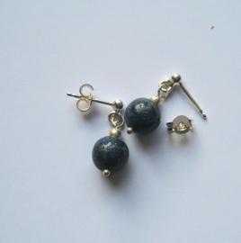Lapiz Lasuli oorbellen -  Echt zilver - edelsteen