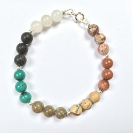 Chakra-armband - Geneeskracht - Echt zilver, echte edelstenen