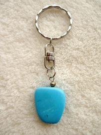 Howliet Turquoise sleutelhanger - echte edelsteen