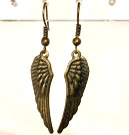 Oorbellen Engelenvleugels , bronskleur, nikkelvrij